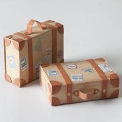 利用牛皮纸和火柴盒DIY制作迷你行李箱模