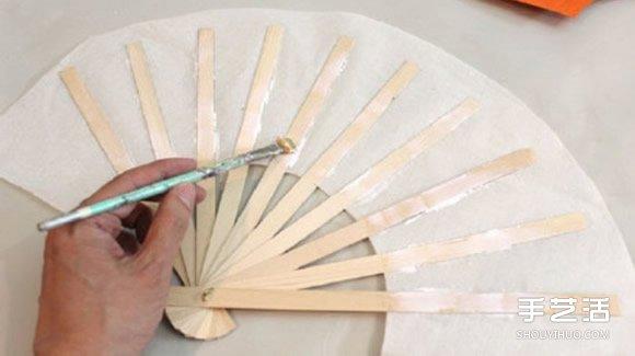 中国传统扇子的手工制作方法过程图解教程
