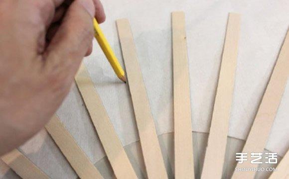 中国传统扇子的手工制作方法过程图解教程 - www.shouyihuo.com