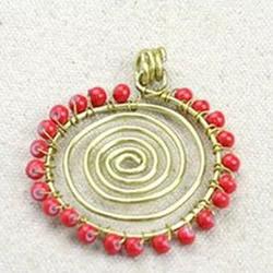 金属丝DIY制作向日葵项链的方法详细步骤图解