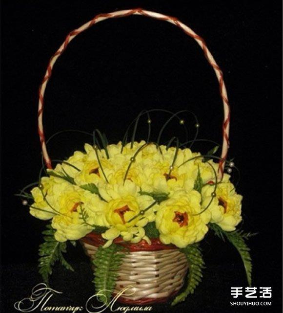 皱纹纸菊花的折法图解
