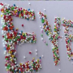 装饰立体文字制作方法 立体英文字母墙饰DIY