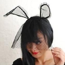 兔耳朵发饰怎么做 纱网兔耳朵发饰制作教程