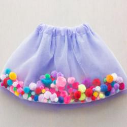 超梦幻纱裙的做法图解 把毛线球放入纱裙里!