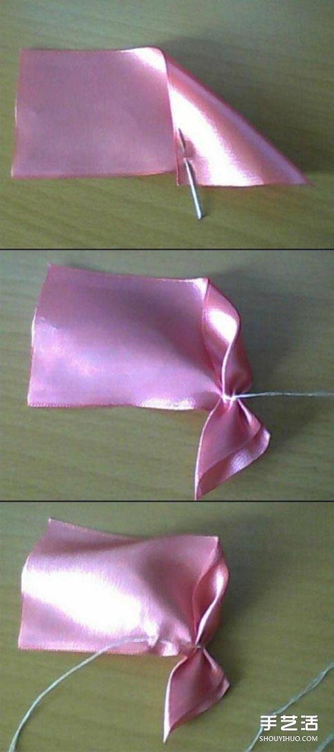 缎带玫瑰花的做法教程