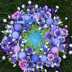 蛋托玫瑰花装饰手工制作 即使婚礼上都可