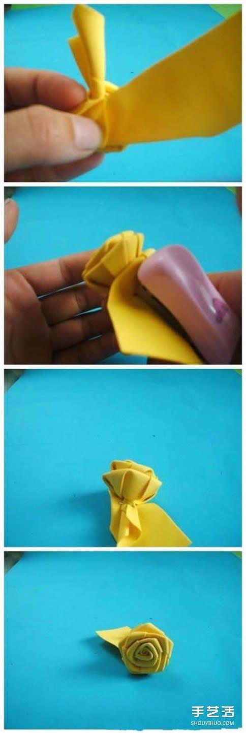 如何用海绵纸折玫瑰花