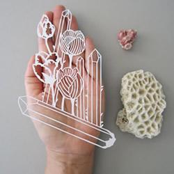 花朵+水晶=?治愈系剪纸艺术美到不行!