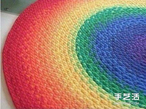 旧t恤编织地毯的方法步骤