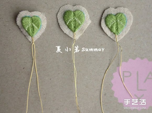 可爱小清新刺绣三叶草戒指DIY 戴着美呆啦图片