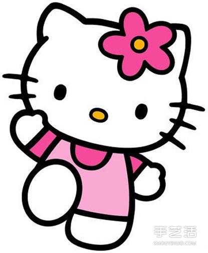 Hello Kitty简笔画图片步骤教程 超可爱的