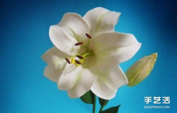超轻粘土百合花制作教程 逼真的手工花卉DIY
