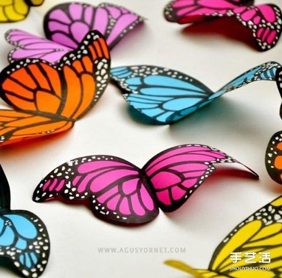 剪纸蝴蝶剪法步骤图解 简单儿童剪纸蝴蝶教程