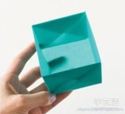 如何折方形纸盒的方法 方形盒子的折法图解