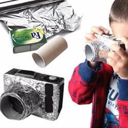 儿童玩具相机制作方法 卷纸筒加纸盒DIY而成