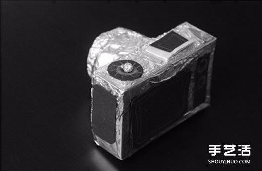 兒童玩具相機製作方法 捲紙筒加紙盒DIY而成