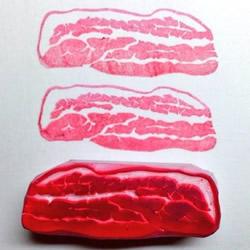 超逼真的肉块橡皮图章 小心被汪星人吃下肚呀