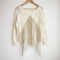 旧毛衣改造图解 DIY流苏让毛衣变得时尚好看