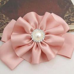 自制缎带花发卡的方法 好搭缎带花朵发饰DIY