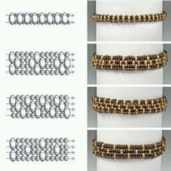 20种精美串珠手链的编织方法图纸