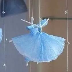 如何用餐巾纸折纸小人 纸巾折芭蕾舞演员的方法图片