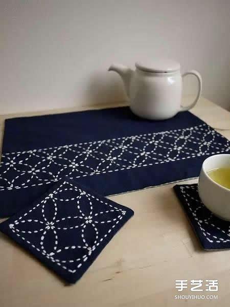 什么是刺子绣 一组日本简朴刺子绣作品图片 -  www.shouyihuo.com