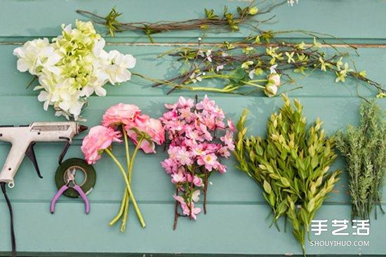 新娘鲜花花环制作方法