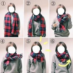 文艺范围巾的系法图解 简单围围巾好看的围法