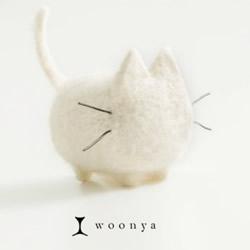 萌系羊毛毡猫咪作品欣赏 可爱的毛绒玩具猫咪