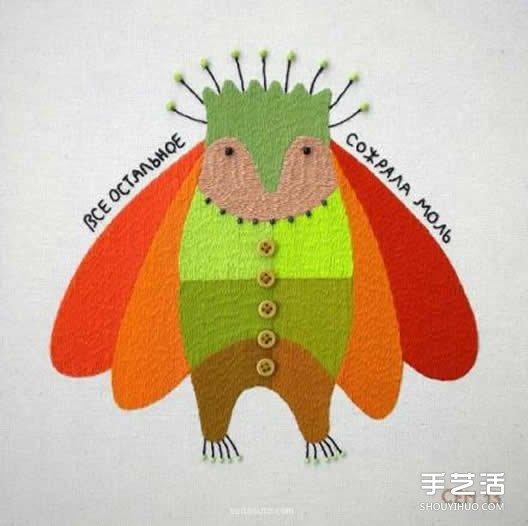 一组细腻的手工刺绣作品 让动物变得美丽多彩 -  www.shouyihuo.com
