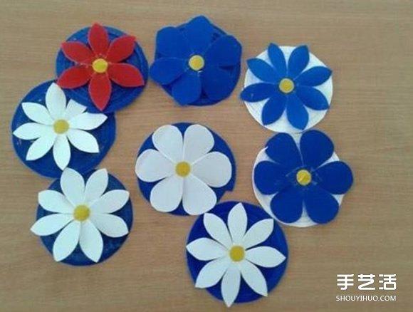 幼儿手工教程:简单又好玩的剪纸弹簧花小制作