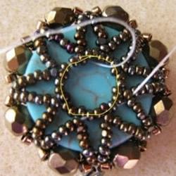 古典复古味道的串珠项链坠子和耳环DIY制