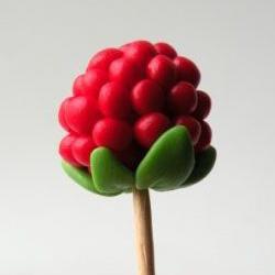 超轻粘土制作可爱山莓的方法 非常简单容易学