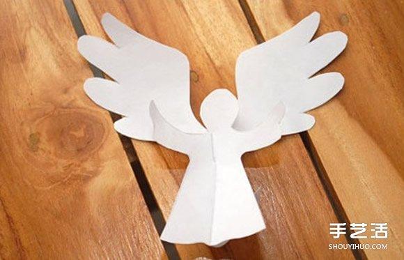a4纸做贺卡的方法 创意立体天使贺卡手工制作