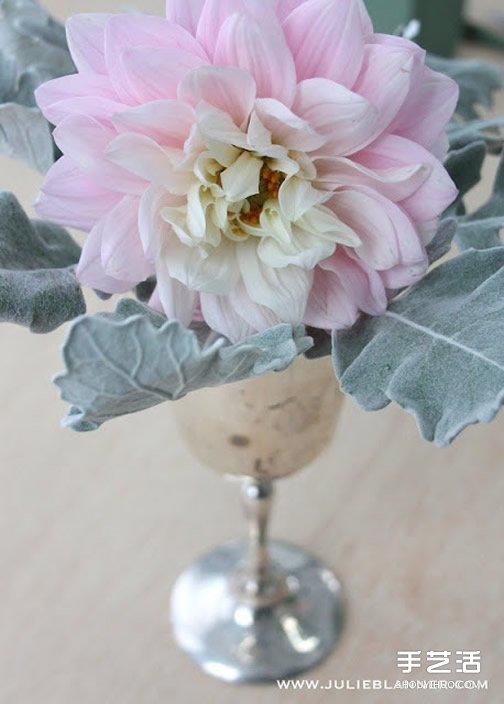 简易插花入门教程图解 所用花器是废旧圣杯~ -  www.shouyihuo.com