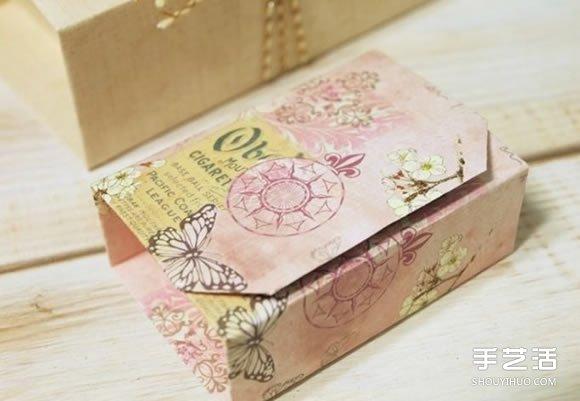 简单折纸礼物盒图解 长方形礼品盒的折法图片