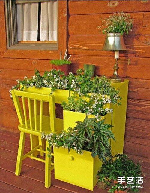 废物利用手工制作花架