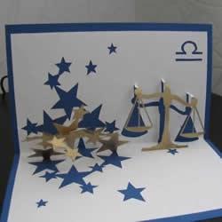 星座贺卡:立体天秤座生日贺卡的做法带