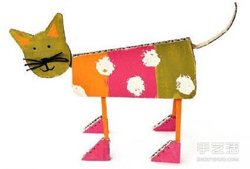 站立的小猫手工制作 幼儿制作小猫的方法教程
