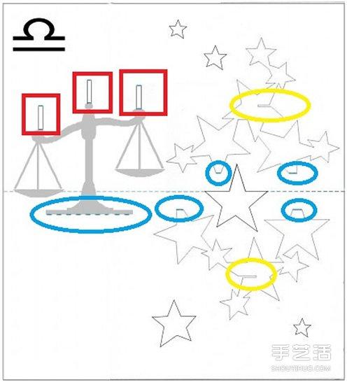 星座贺卡:立体天秤座生日贺卡的做法带图纸 -89du.com