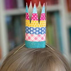卷纸筒皇冠的制作方法 儿童皇冠头饰做法DIY