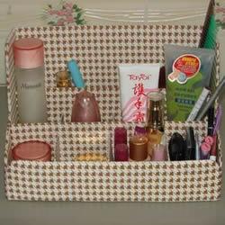 瓦楞纸制作化妆盒的方法 简易化妆盒的做
