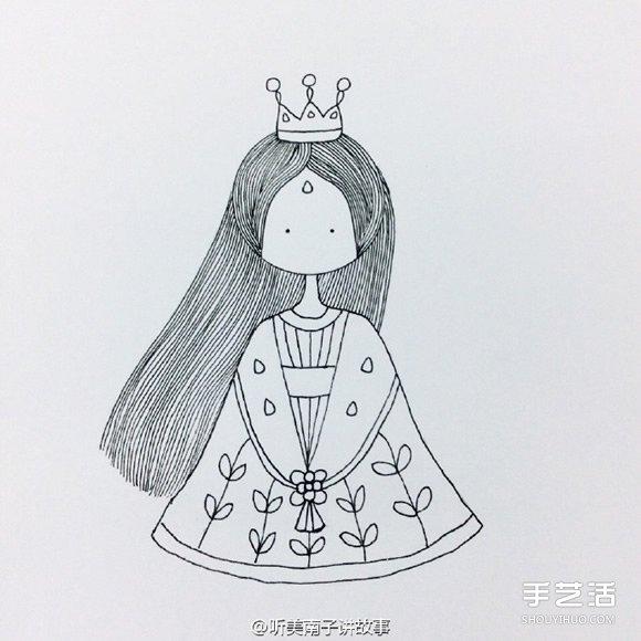 卡通灰姑娘简笔画的画法 简笔画灰姑娘的图片