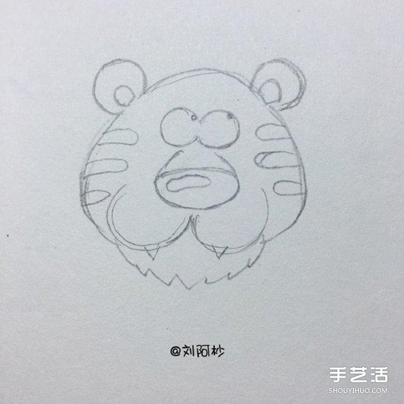 卡通老虎先生简笔画画法 简笔画卡通老虎图片