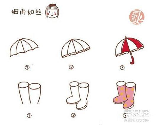 萌翻你的手账简笔画教程 q版卡通日系简笔画