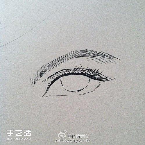 英气勃勃的男性眼睛素描的基本画法步骤图片