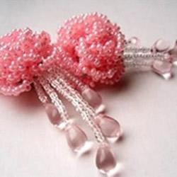 串珠花朵饰品图解教程 精美古风串珠花