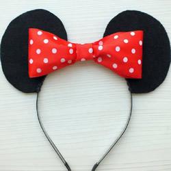 米老鼠发箍制作教程 手工DIY米老鼠耳朵发箍