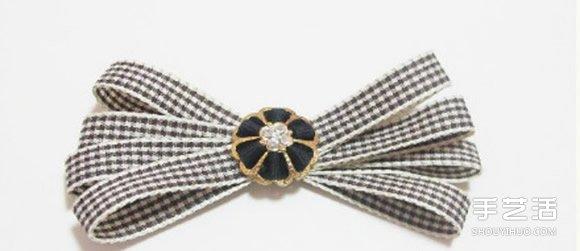 缎带蝴蝶结发饰发夹制作教程 步骤超简单!