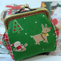 圣诞风口金包制作教程 可爱口金包的做法
